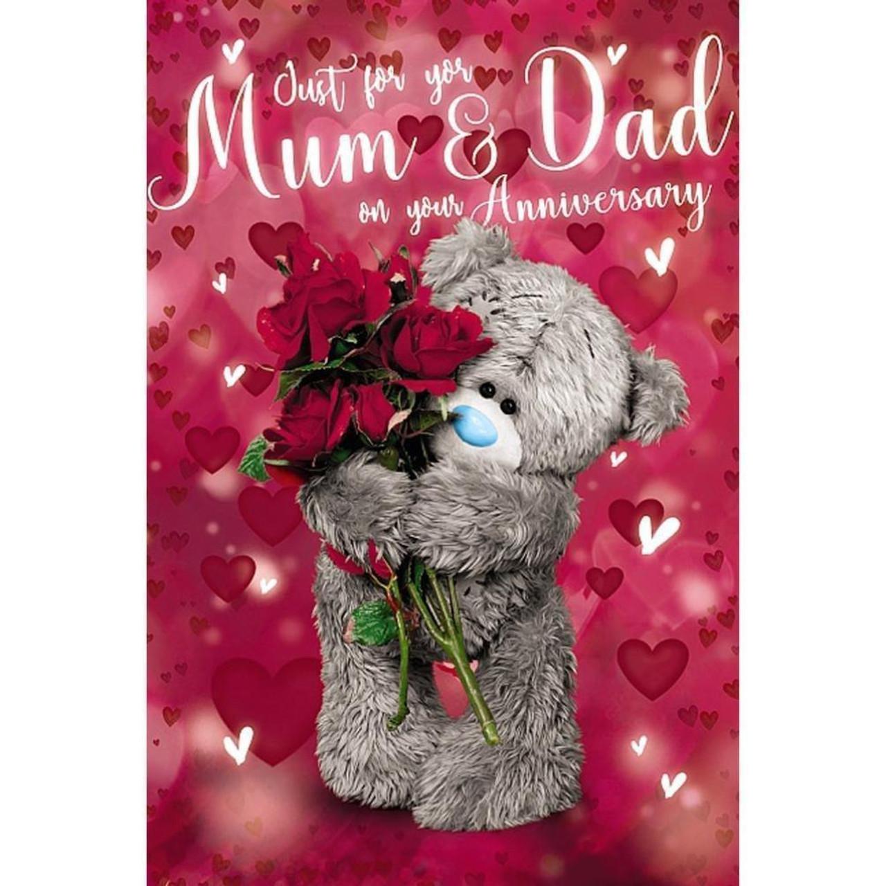 Mum 3D Fold Out Teddy Christmas Card 23x15cm
