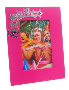 """Electric Pink """"Hen Night"""" Photo Frame"""