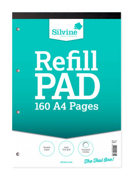 Silvine A4 Ruled 5mm Dot Refill Pads 80 Leaves