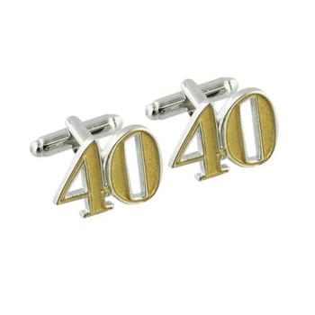 40th Birthday Wendy Jones-Blacket Diecast Cufflinks