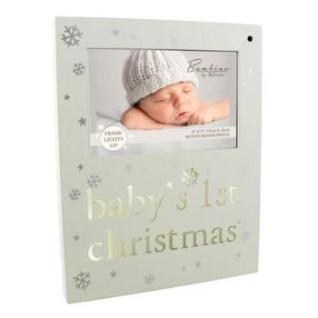 Bambino Baby's 1st Christmas Light Up Photo Frame