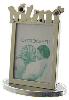 """Mum"" Small Crystal Photo Frame"