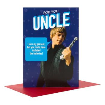 Hallmark Star Wars Uncle Christmas Card Medium