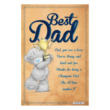 Me To You Tatty Teddy Dad Certificate Gift
