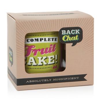 Back Chat 13 fl oz 369 ml A Complete Fruit Cake Ceramic Mug