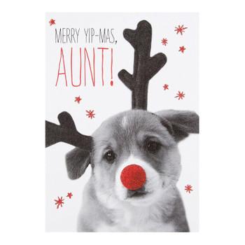 Aunt Christmas Card 'Merry Yip-Mas'