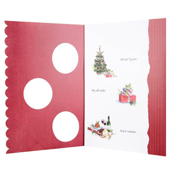 Brother and Sister-in-Law Christmas Card with Cut Out Design