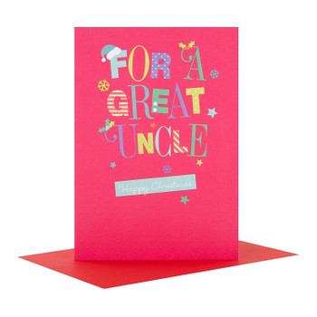 Hallmark Christmas Card 'Great Uncle'  Medium