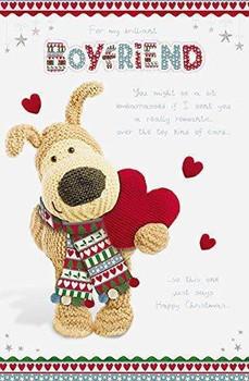 Boofle Large Boyfriend Christmas Card Heart