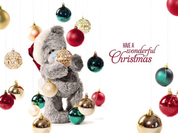 3D Holographic Just For You Dad Me to You Bear Tatty Teddy Christmas Card