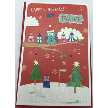 Happy Christmas To MyTeacher Christmas Card