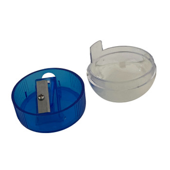 Pack of 24 Blue Pencil Sharpener with Canister Tub Case
