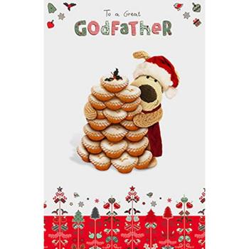 Boofle Godfather Christmas Card