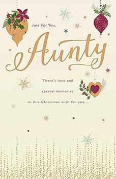 Aunty Gold Christmas Card