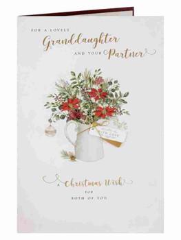 Granddaughter & Partner A Christmas Wish Christmas Card