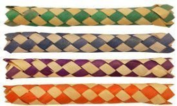 12 x Chinese Oriental Bamboo Finger Traps