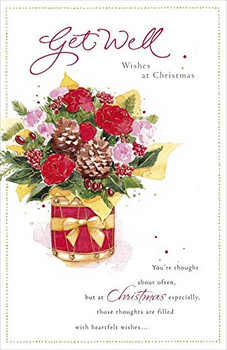 A get Well Wish at Christmas Card