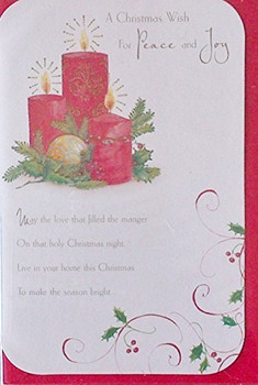 A Christmas Wish for Peace and Joy Christmas Card