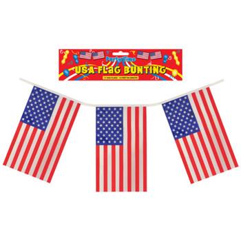 USA Flags Bunting Banner 12 Feet