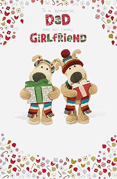 Boofle Dad & His Girlfriend Adorable Christmas Card
