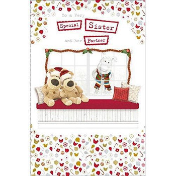 Boofle Very Special Sister And Her Partner Christmas Card