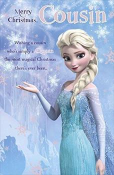 Frozen cousin merry Christmas card Disney