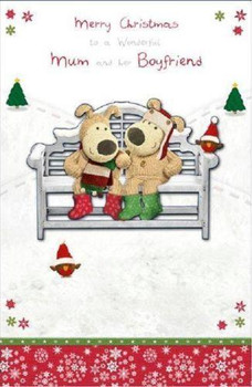 Boofle Couple Mum And Her Boyfriend Christmas Card