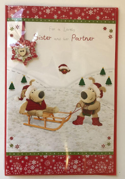 Boofle Sister And Her Partner Christmas Card