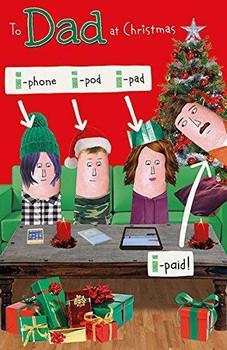 Dad Humour I-paid Christmas Card