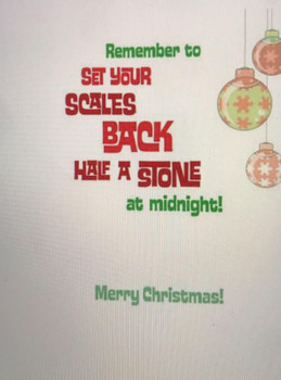 Open Santa & Baubles' Humour Second Nature Christmas New Card