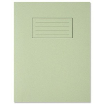 "9""x7"" Green Exercise Book - Lined with Margin"