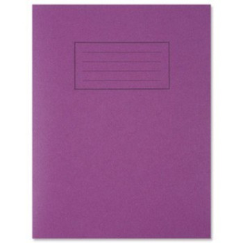 "9""x7"" Purple Exercise Book  - Lined with Margin"