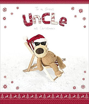 Cute Boofle Uncle Christmas Card