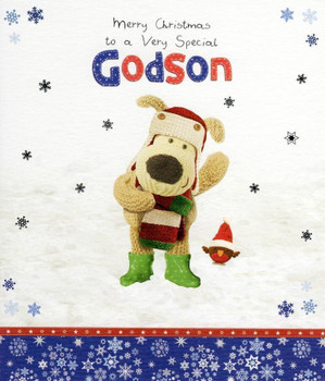Boofle Special Godson Christmas Card