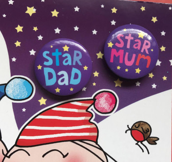 Merry Christmas Mum and Dad Both Of You Amazing Christmas Card With Badges