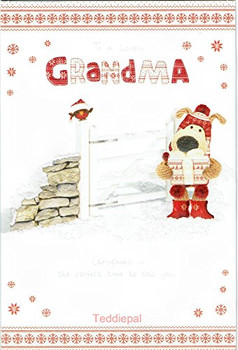 Boofle To A Lovely Grandma Christmas Card