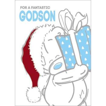 Fantastic Godson Me to You Bear Christmas Card
