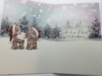 3D Holographic One I Love Me to You Bear Christmas Card