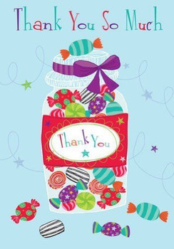 """"""" Thank You So Much """" Quality Embossed Greeting Card DR008"""
