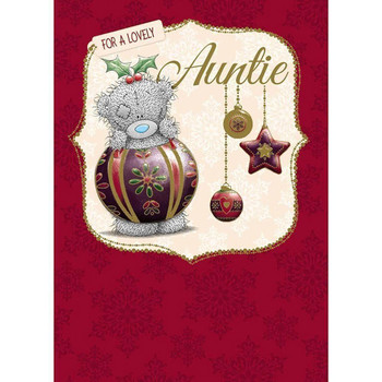 Auntie Me to You Bear Christmas Card