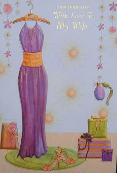 """""""On Mother's Day With Love To My Wife"""" Greeting Card"""