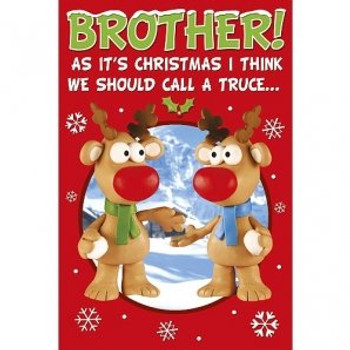 Brother at Christmas Card By Wishing Well