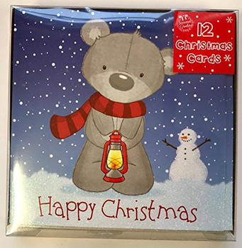 12 Cute Teddy Design Christmas Cards