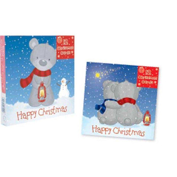 3 x 12 Christmas Cards Teddies Design (36 Cards In Total)