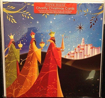 A Pack Of 6 Charity Christmas Cards By Paper House