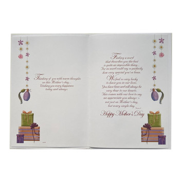 """""""From Your Son and Daughter-in-Law"""" On Mother's Day Greeting Card"""