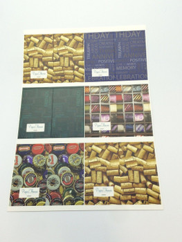 10 Sheets of Luxury 'Unique Design' Gift Wrapping Paper and Tags - Birthday, Christmas, Father's Day, Congratulations Wrap etc