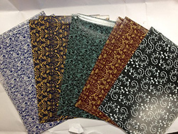 10 Sheet of Mix Designer' Soft touch Foiled Christmas, Birthday new year, congratulation, open Gift wrapping paper