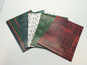 10 Sheet of Mix Designer' Soft touch Foiled Christmas Gift wrap Pack