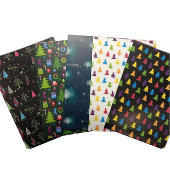 10 Sheets of Mix Designer Soft Touch Christmas Gift Wrap Wrapping Paper